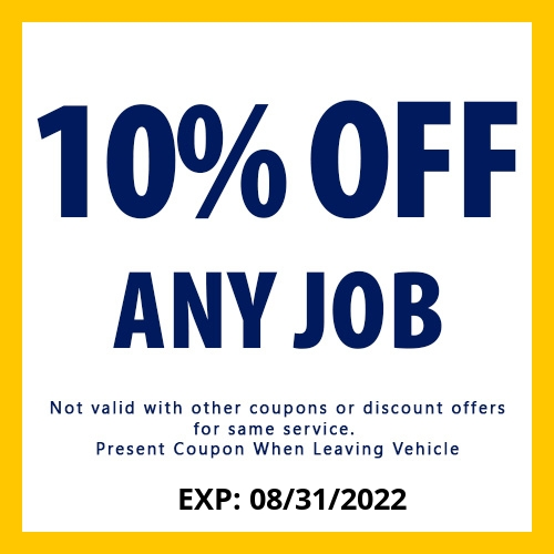 10% Off Any Job Coupon - Better Than Ever Auto Body & Auto Sales